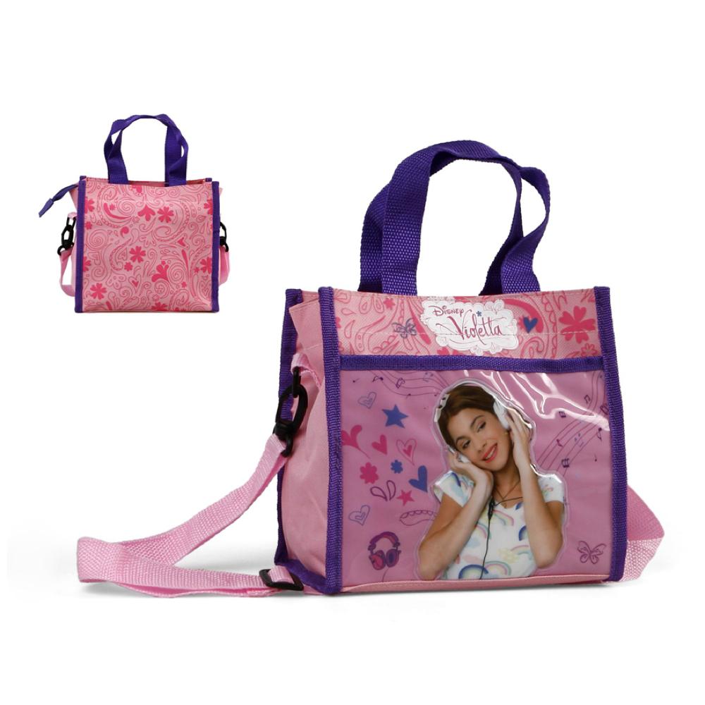 Disney Violetta  Schultertasche Umhängetasche Neon Kindertasche Tasche  Violetta